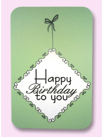 Cadeaulabel 'Happy Birthday'