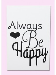 Cadeaulabel 'Always be happy'