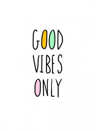 Ansichtkaart 'Good vibes only'