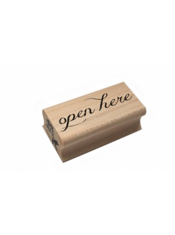 Stempel 'Open here'