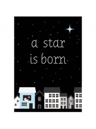 Sparkling kaart 'A star is born' Blue