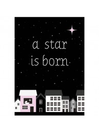 Sparkling kaart 'A star is born 'Pink