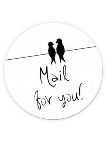 Sluitzegels 'Mail for you' per 6 stuks